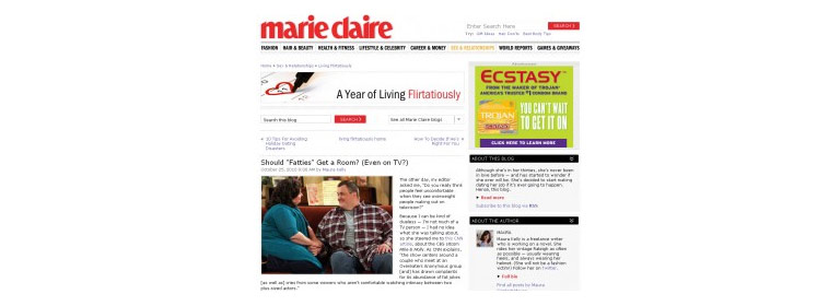 Marie claire bad buzz